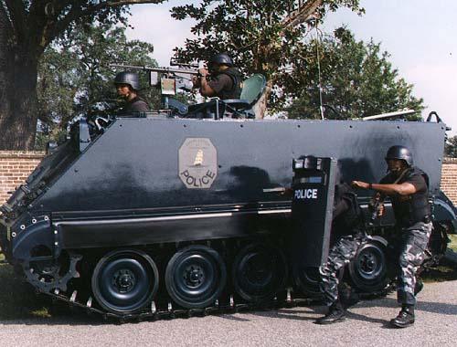 Police SWAT tank